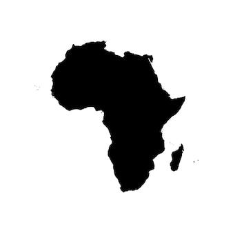 Gedetailleerde kaart van afrika
