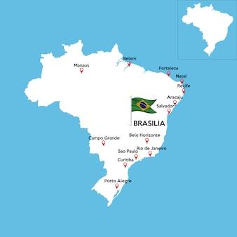 Gedetailleerde kaart van brazilië