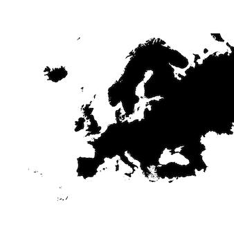 Gedetailleerde kaart van europa
