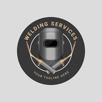 Gedetailleerde logo sjabloon voor lassers