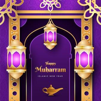 Gedetailleerde muharram-illustratie