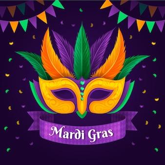 Gedetailleerde platte mardi gras