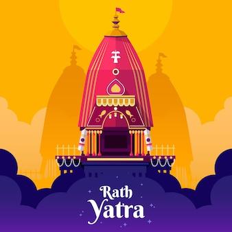 Gedetailleerde rath yatra-illustratie