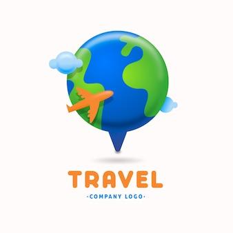 Gedetailleerde reizen logo sjabloon