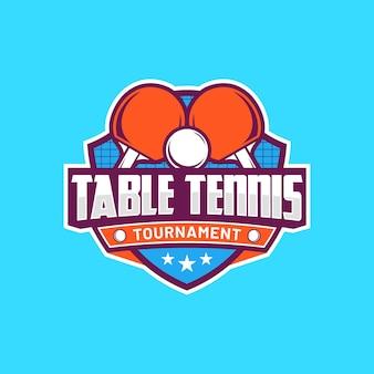 Gedetailleerde tafeltennis logo sjabloon