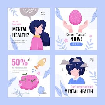 Gedetailleerde verzameling instagram-berichten over geestelijke gezondheid