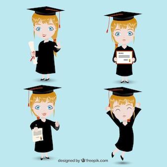 Gediplomeerd meisje