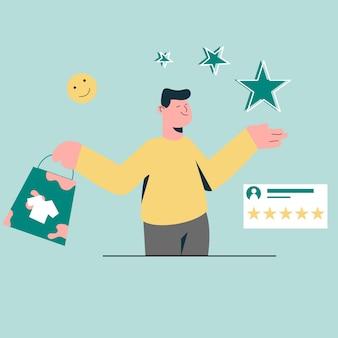 Geef beoordeling op online winkel