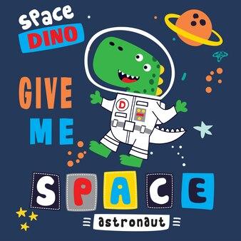 Geef me ruimte cartoon vector kunst