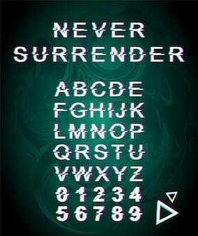 Geef nooit glitch-lettertypesjabloon over