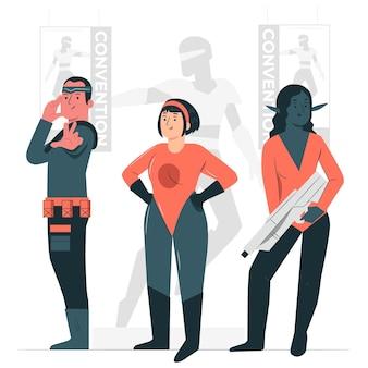 Geek conventie concept illustratie