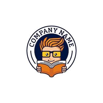 Geek logo ontwerpsjabloon vector