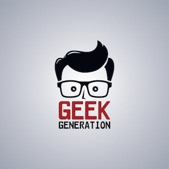 Geek nerd man