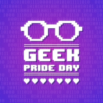 Geek trots dag concept