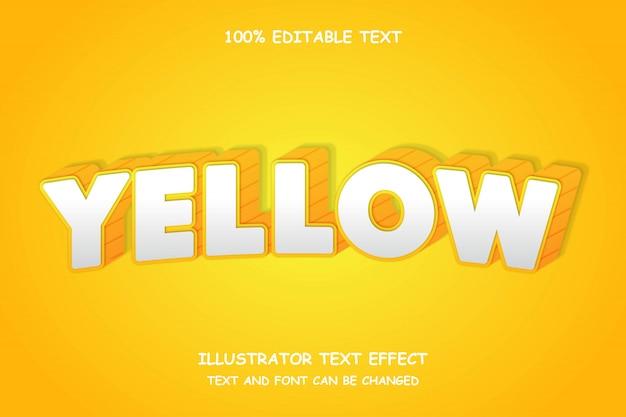 Geel, 3d bewerkbaar teksteffect schaduwboogstijl