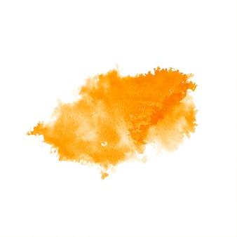 Geel aquarel splash vlek ontwerp