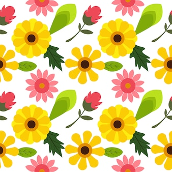 Geel bloem naadloos patroon