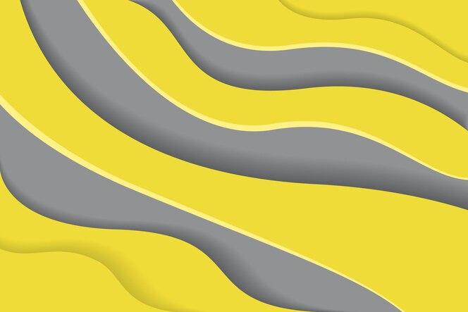 Geel en grijs op papierstijlachtergrond