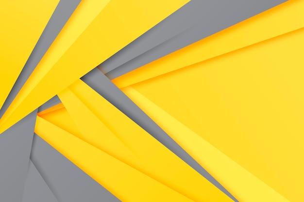 Geel en grijs papier stijl achtergrond