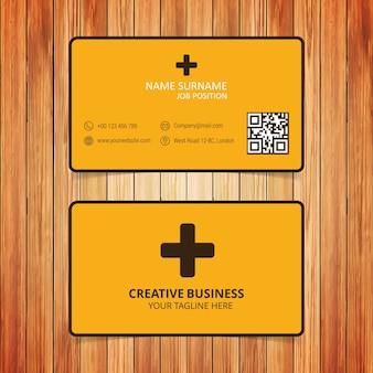 Geel en zwart gezondheidszorg visitekaartje