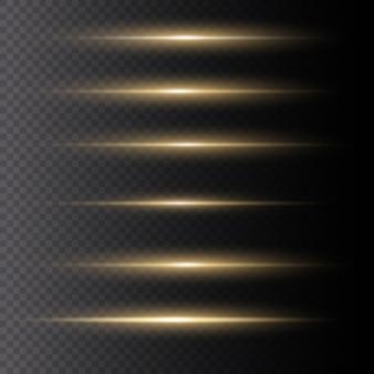 Geel gloeiend licht. sprankelende magische stofdeeltjes.