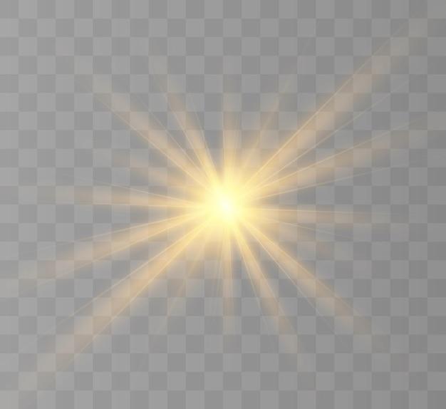 Geel gloeiend licht