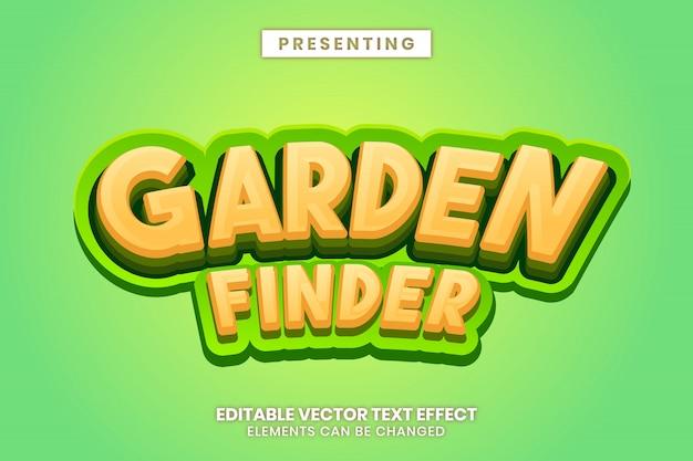 Geel groen tuin spelstijl bewerkbaar teksteffect