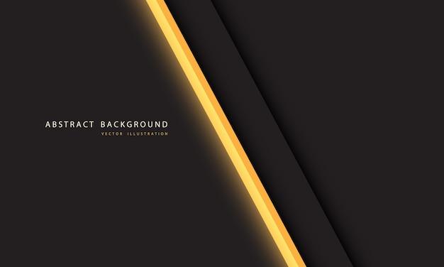 Geel licht neon lijn schuine streep op donkergrijze achtergrond