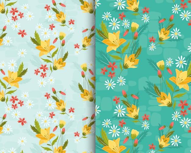 Geel lily garden-patroon