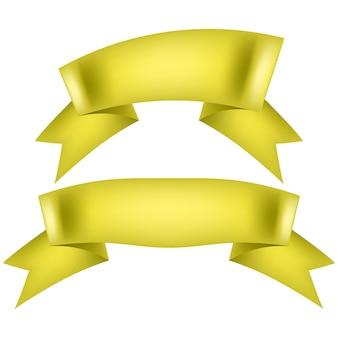 Geel lint collectie geïsoleerd op wit.
