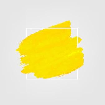 Geel met verf