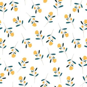 Geel naadloos patroon
