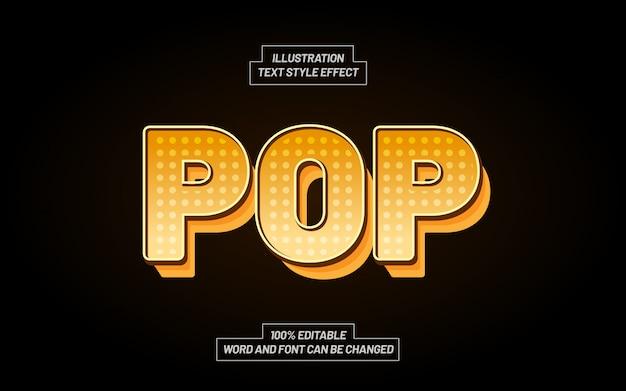 Geel pop-art stijleffect