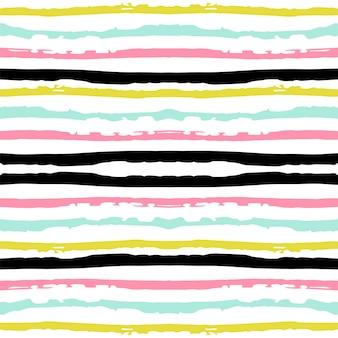 Geel streep naadloos patroon