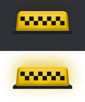 Geel taxi autodak. taxi-pictogram. vector illustratie