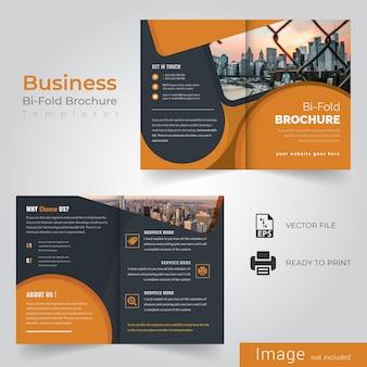 Geel tweevoudig brochureontwerp