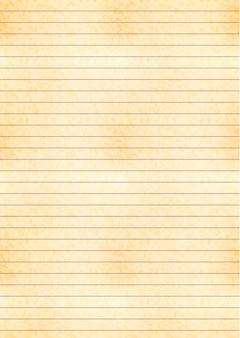 Geel vel a4-formaat van oud papier met raster van één centimeter