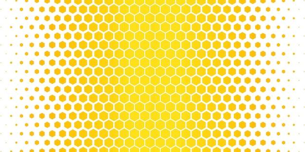 Geel zeshoekig patroon