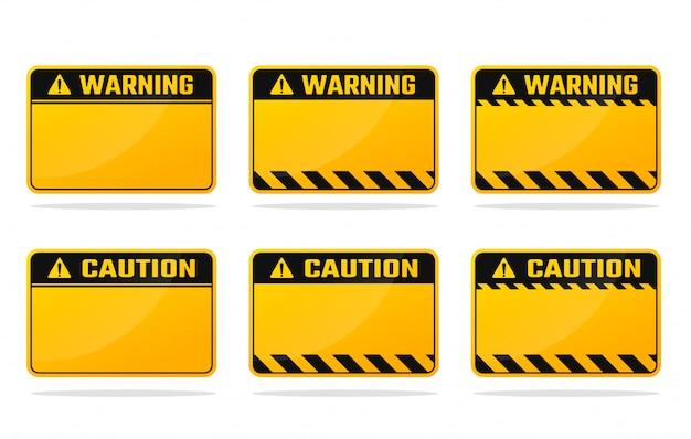 Geel zwart waarschuwingsbord laat ruimte over voor uw waarschuwingsbericht.