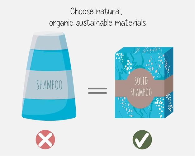 Geen afval dat het milieu beschermt door natuurlijke organische duurzame materialen te kiezen.