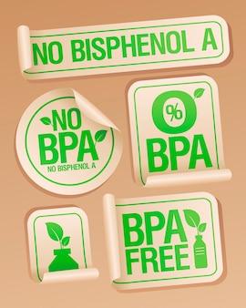 Geen bisfenol a-stickers voor plastic verpakking