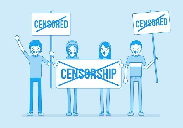 Geen censuur demonstratie