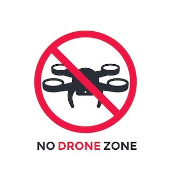 Geen drone-zone, vector beperkend teken