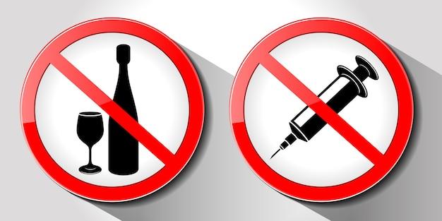 Geen drugs ondertekenen illustratie