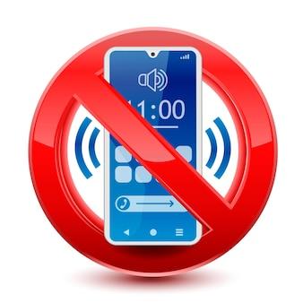 Geen geluiden op telefoonteken