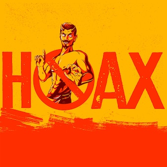 Geen hoax toegestaan teken propaganda
