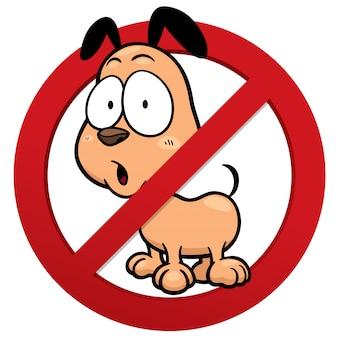 Geen hondenteken