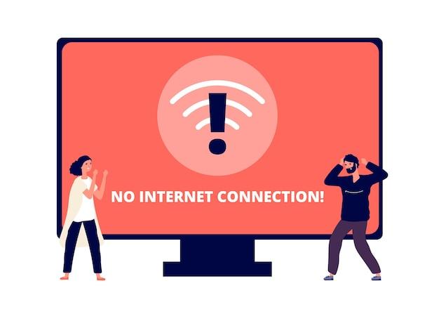 Geen internet verbinding Premium Vector