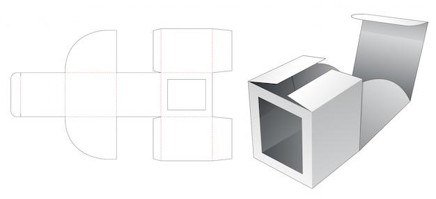 Geen lijm kartonnen doos met raam gestanst sjabloon