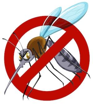 Geen mug teken op wit